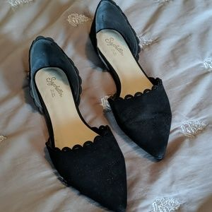 Seychelles D'Orsay suede flats